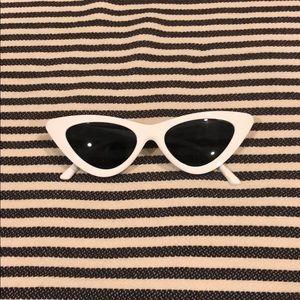 Accessories - Retro white sunglasses